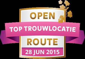 Open Toptrouwlocatie Route – zondag 28 juni 2015