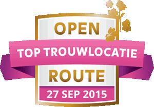 Open Toptrouwlocatie Route – zondag 27 september 2015